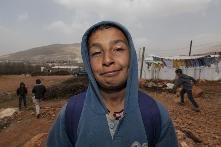 Libanon, Bekaa Region, Kfar Zabad, Flüchtlingslager, Syrische Flüchtlinge