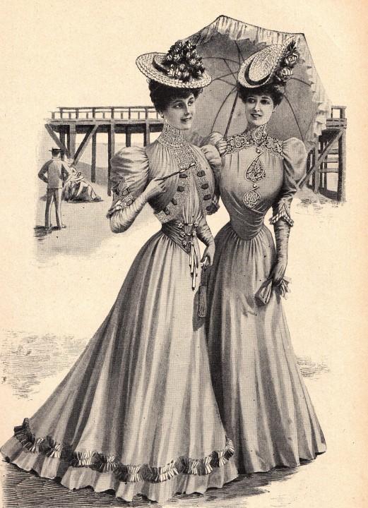 Strandmode. Aus der Zeitschrift Der Mode-Salon, um 1905