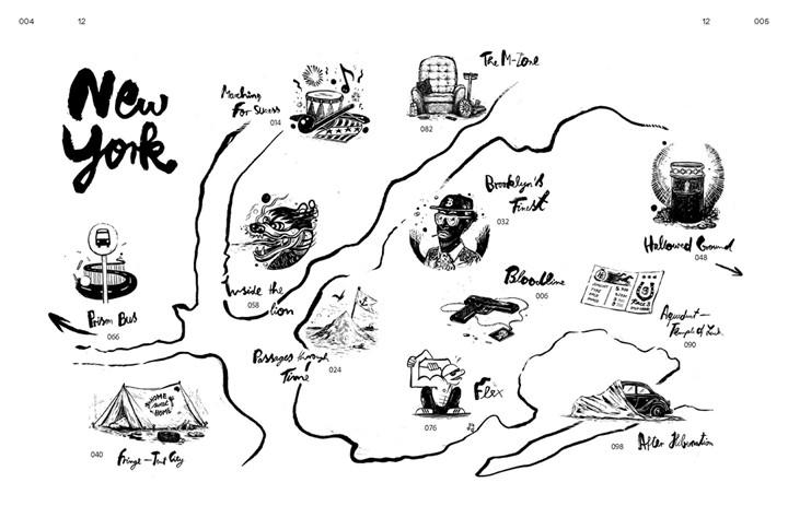 Wegweiser durch das Buch, Illustration: Hamed Eshrat