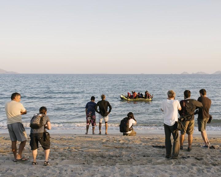 Tourists vs. Refugees, Foto: Jörg Brüggemann