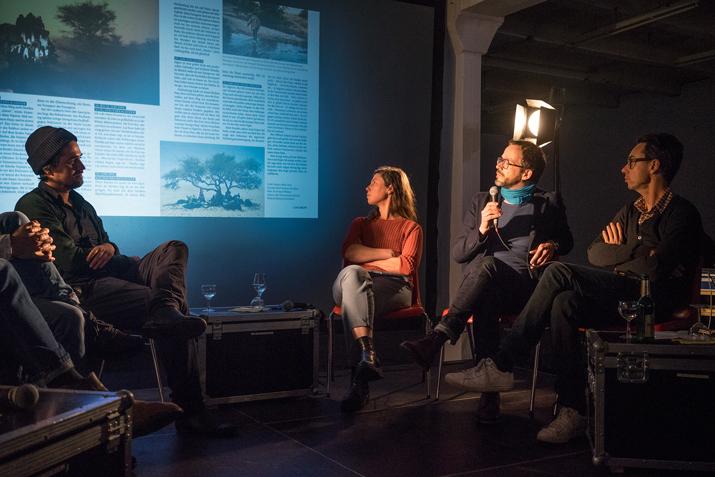 Kai Löffelbein (Freier Fotograf), Sibylle Fendt (Ostkreuz), Lars Lindemann (Fotochef GEO) und Georg Díez (DER SPIEGEL)