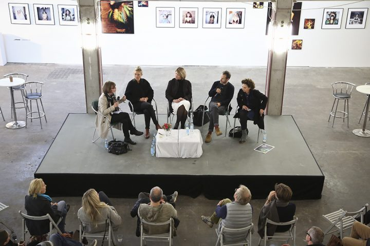 Panel Teilnehmer von links nach rechts: Brigitte Schaller, Lala Moebius, Mia Zlobinski, Andreas Gehrke, Nadja Masri