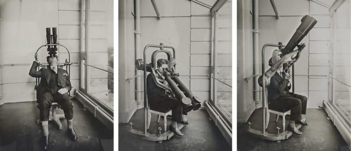 """Tourelle pour l'observation des oiseaux et des Avions, Archives nationales (398AP/27), aus der Ausstellung """"The Saga of Inventions"""", kuratiert von Luce Lebart"""